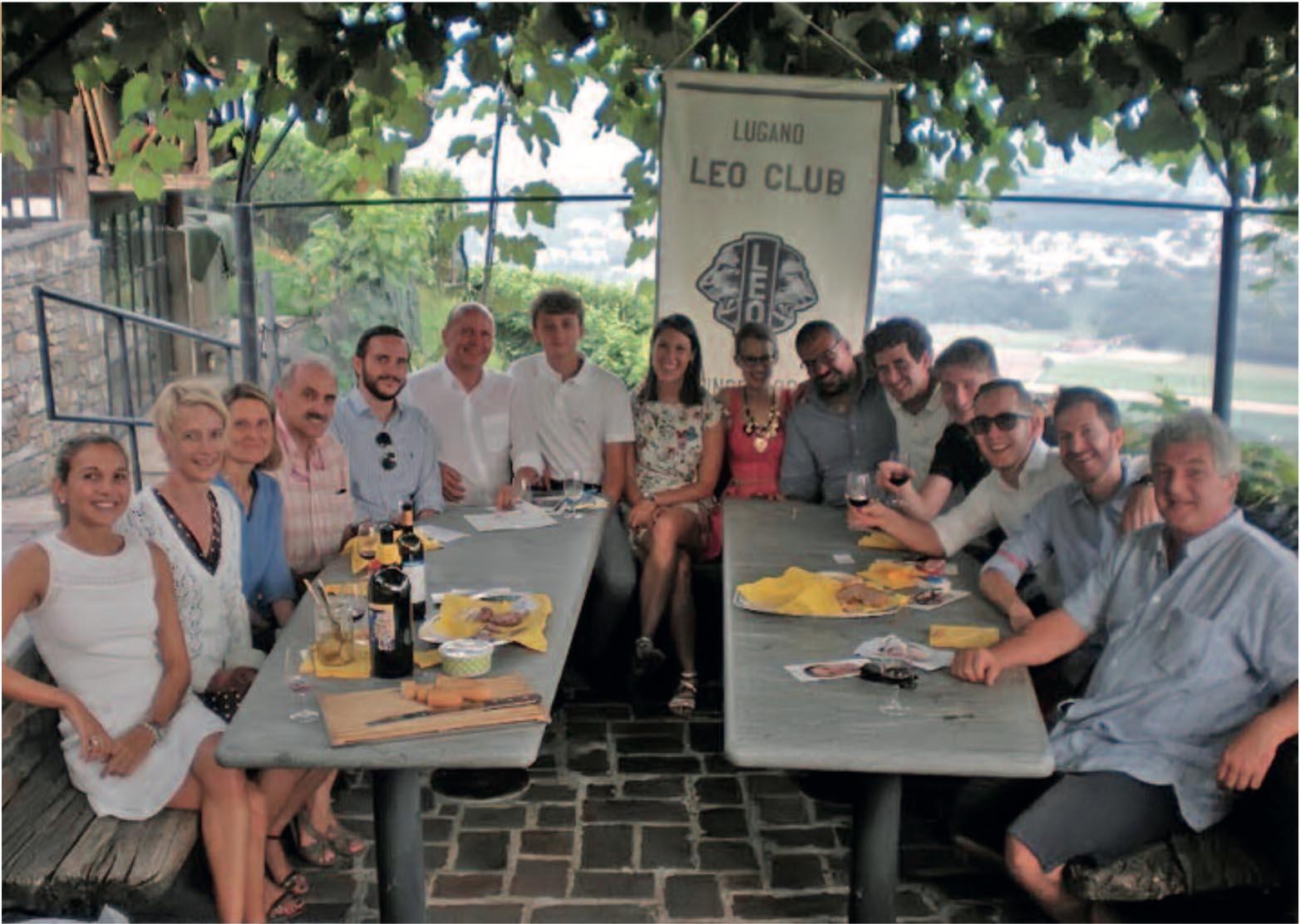 Il Leo-Club riunito alla Cantina Monti